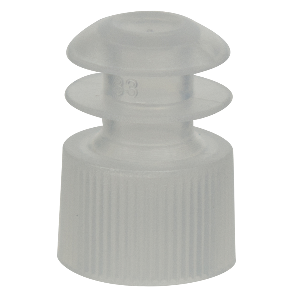 12mm Clear Flanged Cap