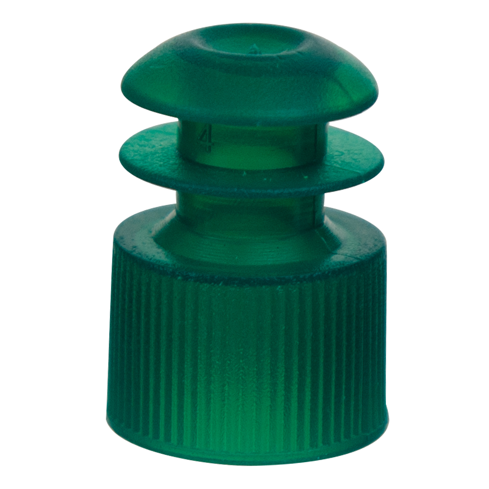12mm Green Flanged Cap