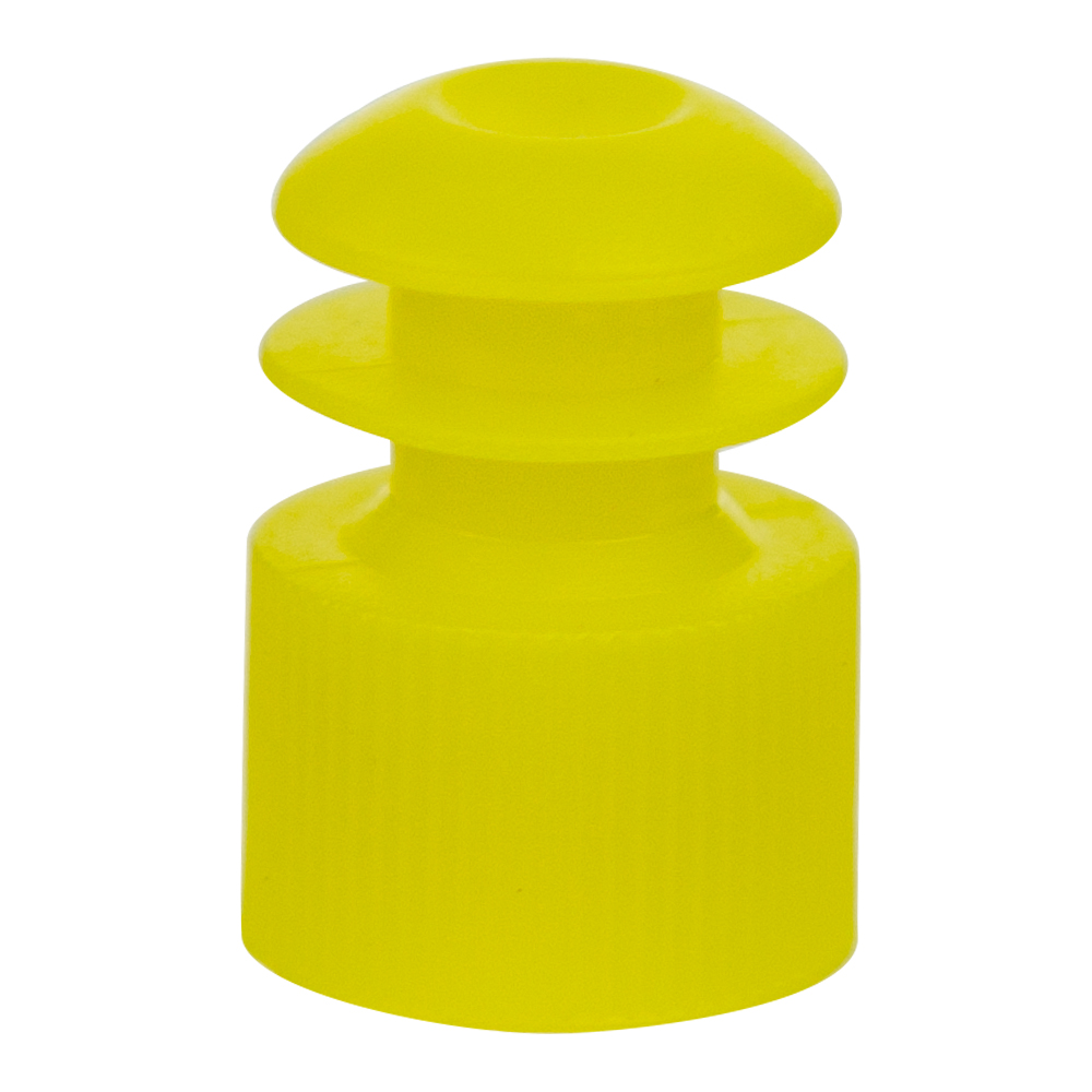 12mm Yellow Flanged Cap