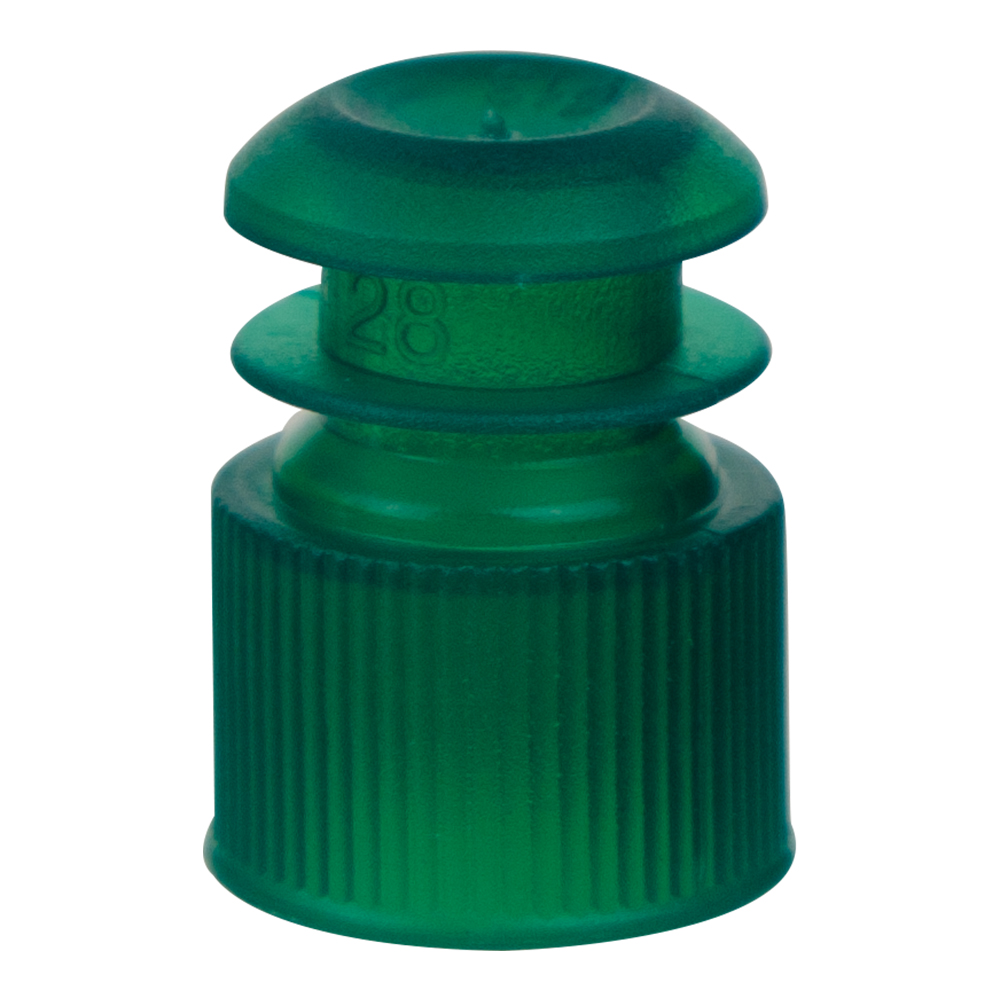 13mm Green Flanged Cap