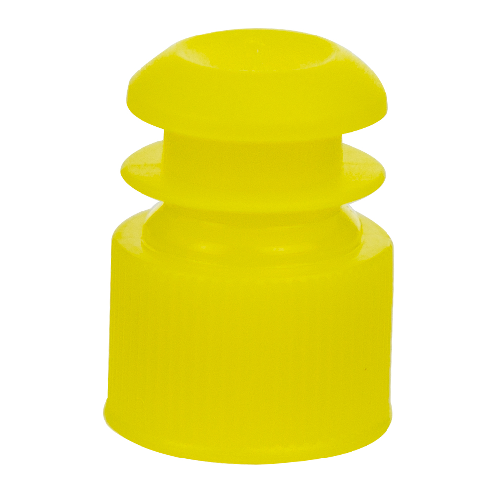 13mm Yellow Flanged Cap
