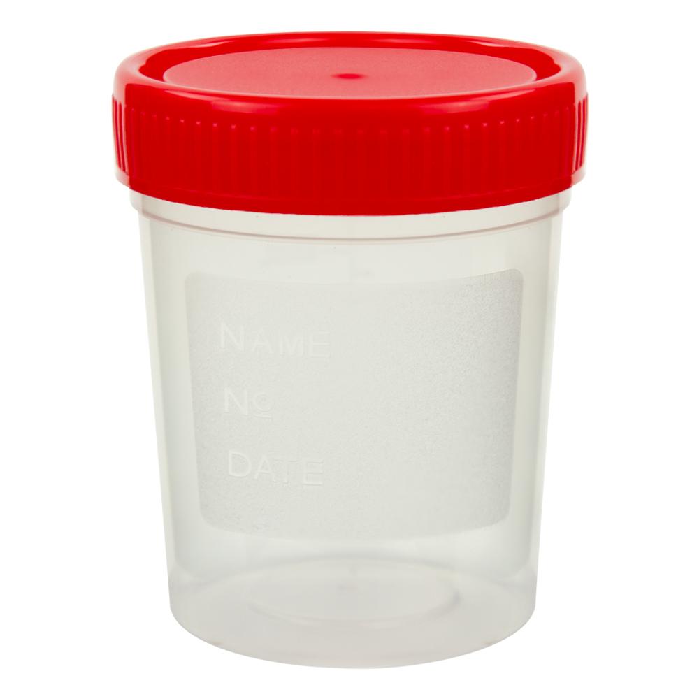 4 oz./120mL Specimen Container with Red Cap