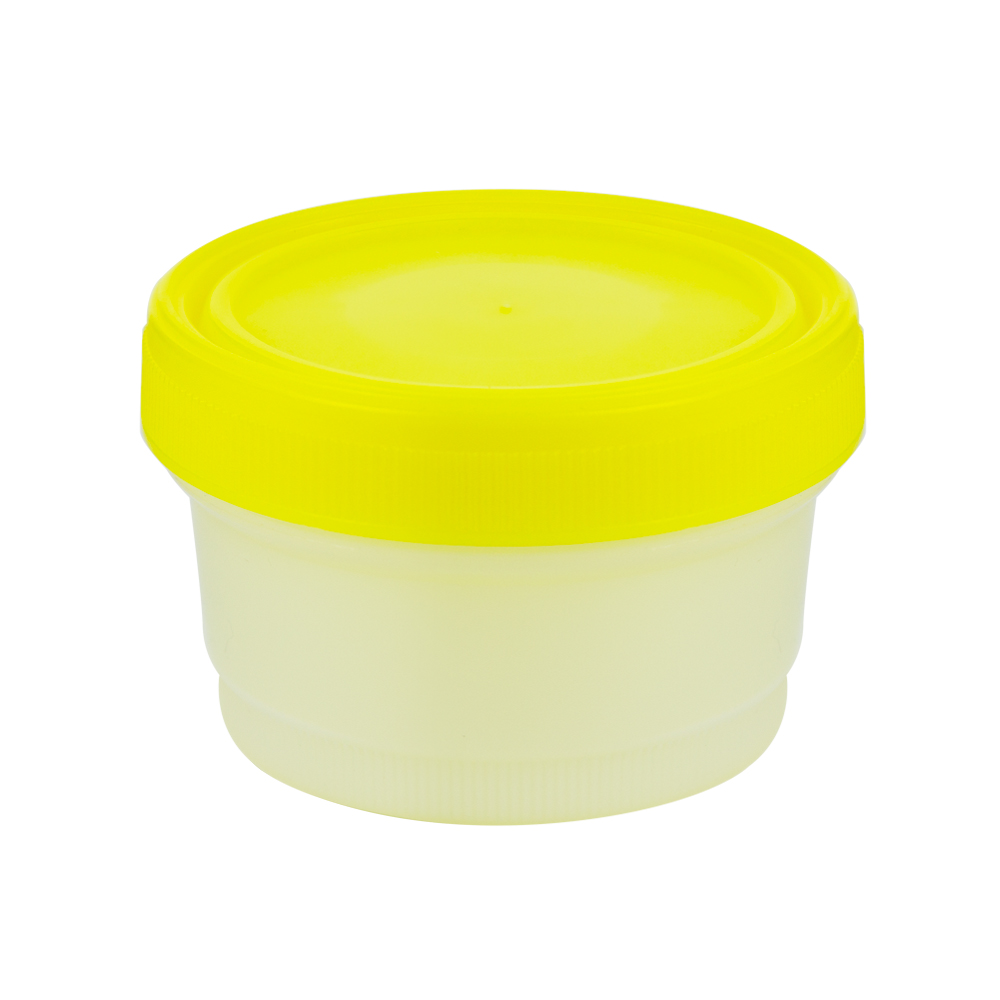 8 oz./250mL Large Specimen Container with Yellow Screw Cap