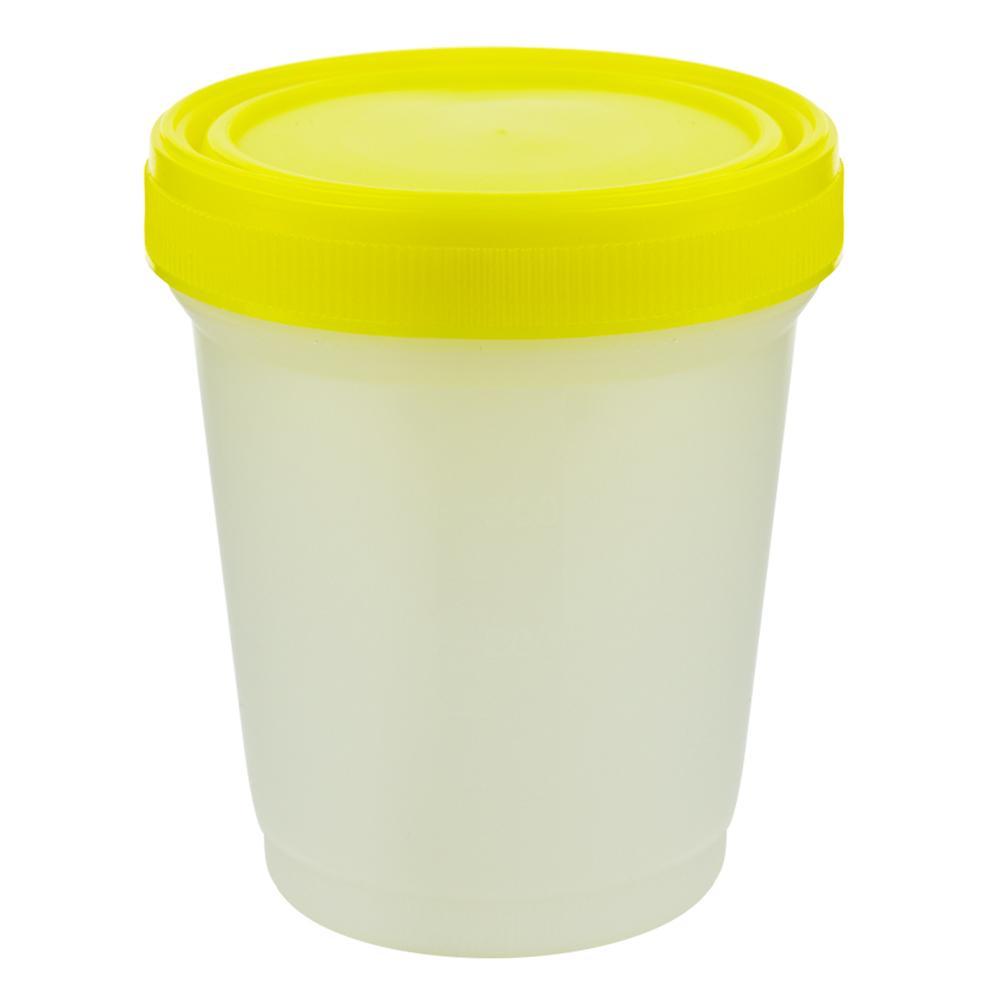 16 oz./500mL Large Specimen Container with Yellow Screw Cap