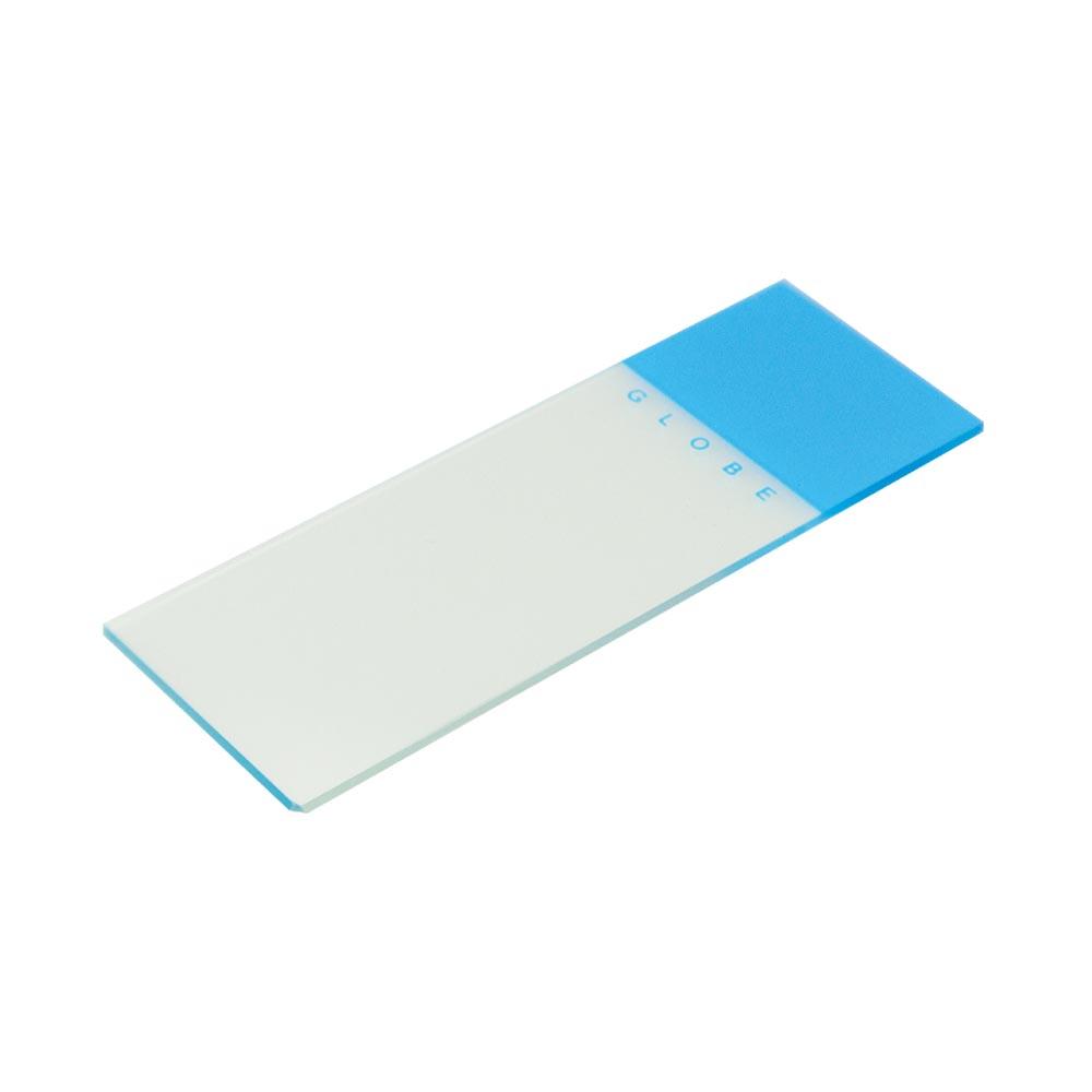 Blue Coded Microscope Slide