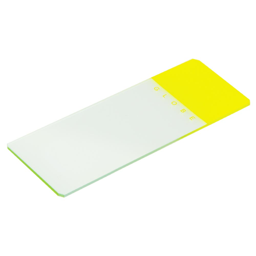 Yellow Coded Safety Microscope Slide