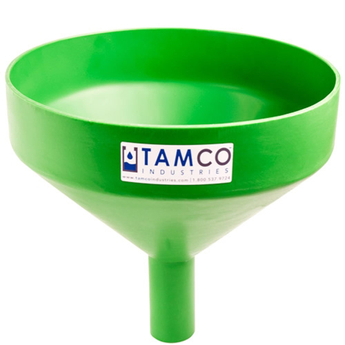 """13-1/8"""" Top Diameter Green Tamco® Funnel with 2"""" OD Spout"""