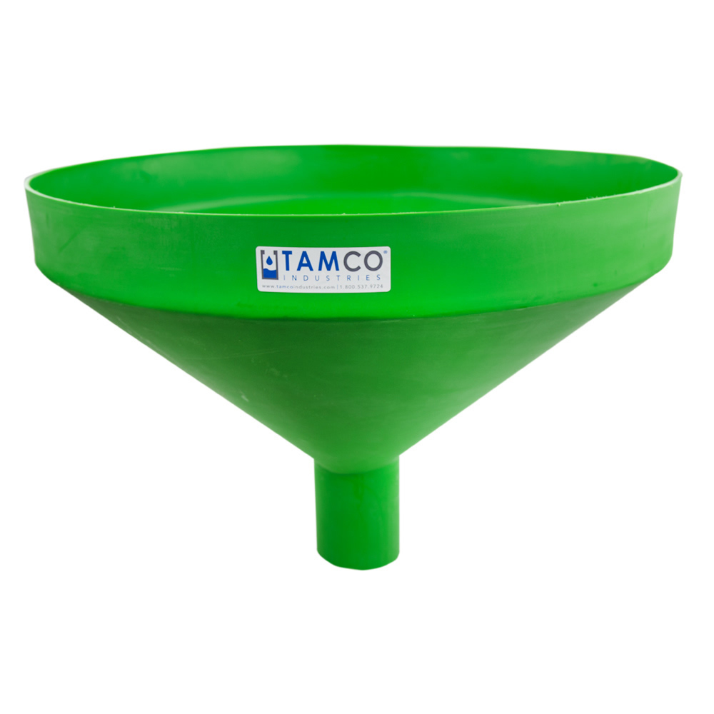"""26"""" Top Diameter Green Tamco® Funnel with 4"""" OD Spout"""
