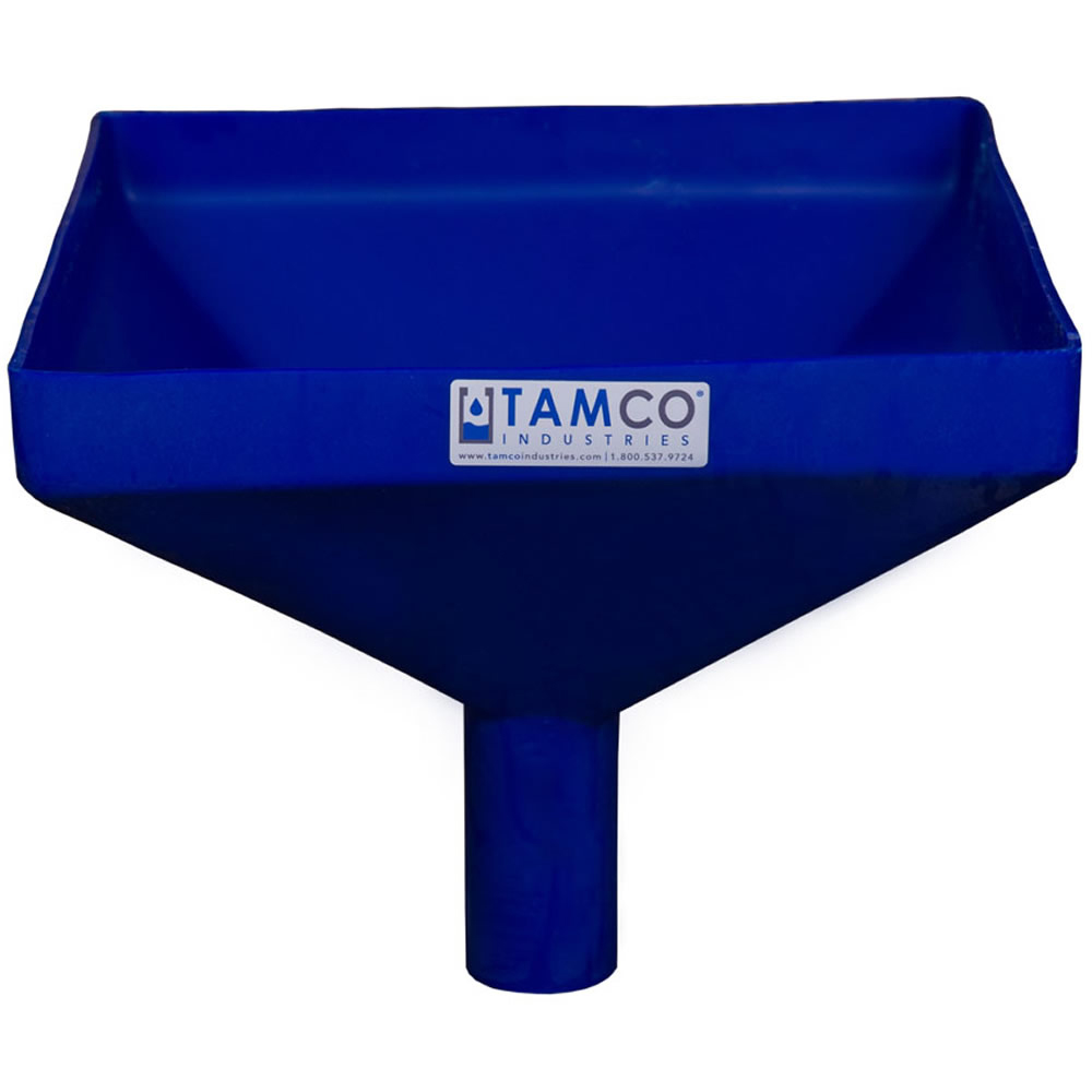 """12"""" Square Blue Tamco® Funnel with 2"""" OD Spout"""