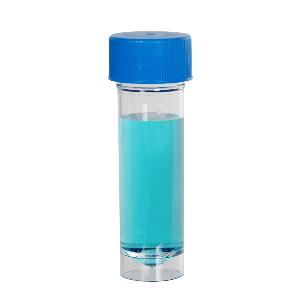 30mL Clear Polystyrene Universal Container with Blue Cap