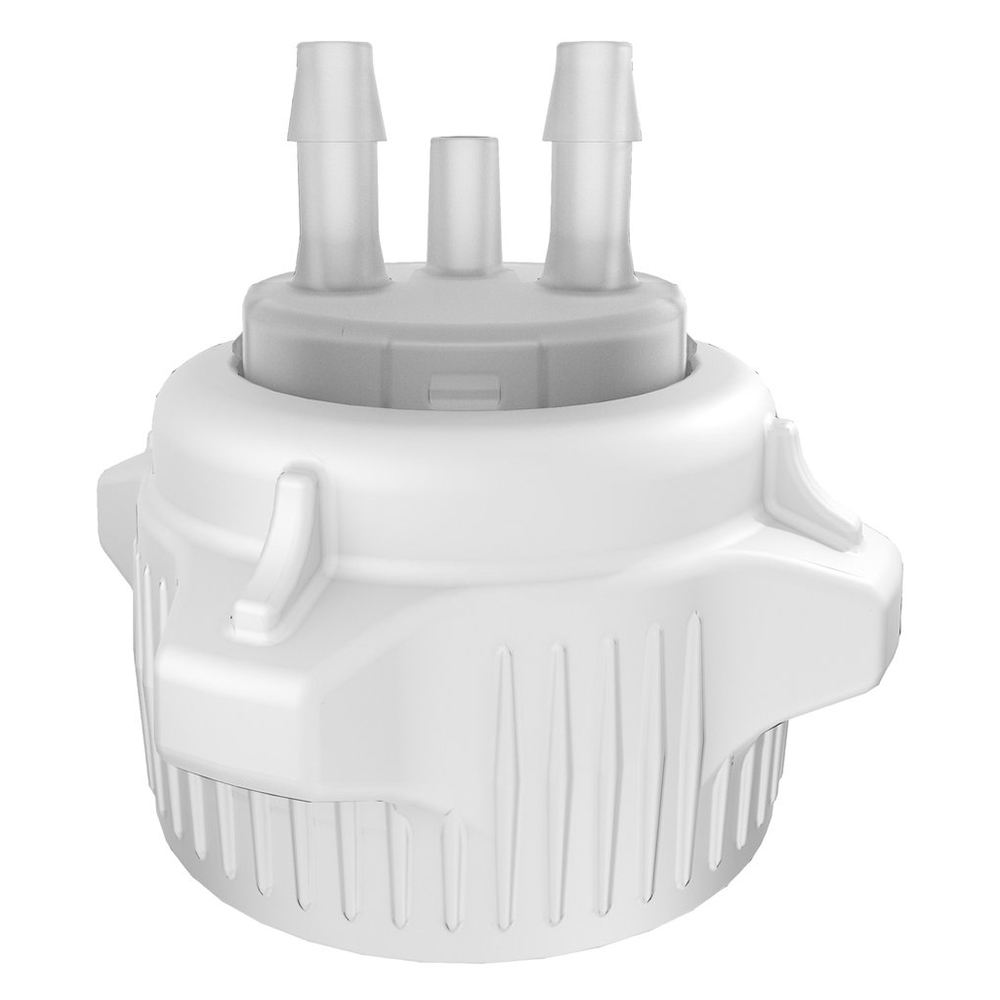 "VersaCaps® 53mm Cap with Double 1/4"" Hose Barb Port"
