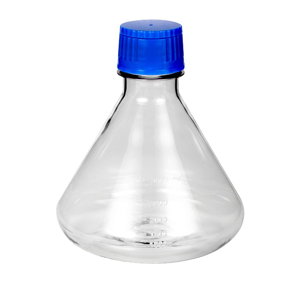 Flat Base Fernbach Flask with Cap