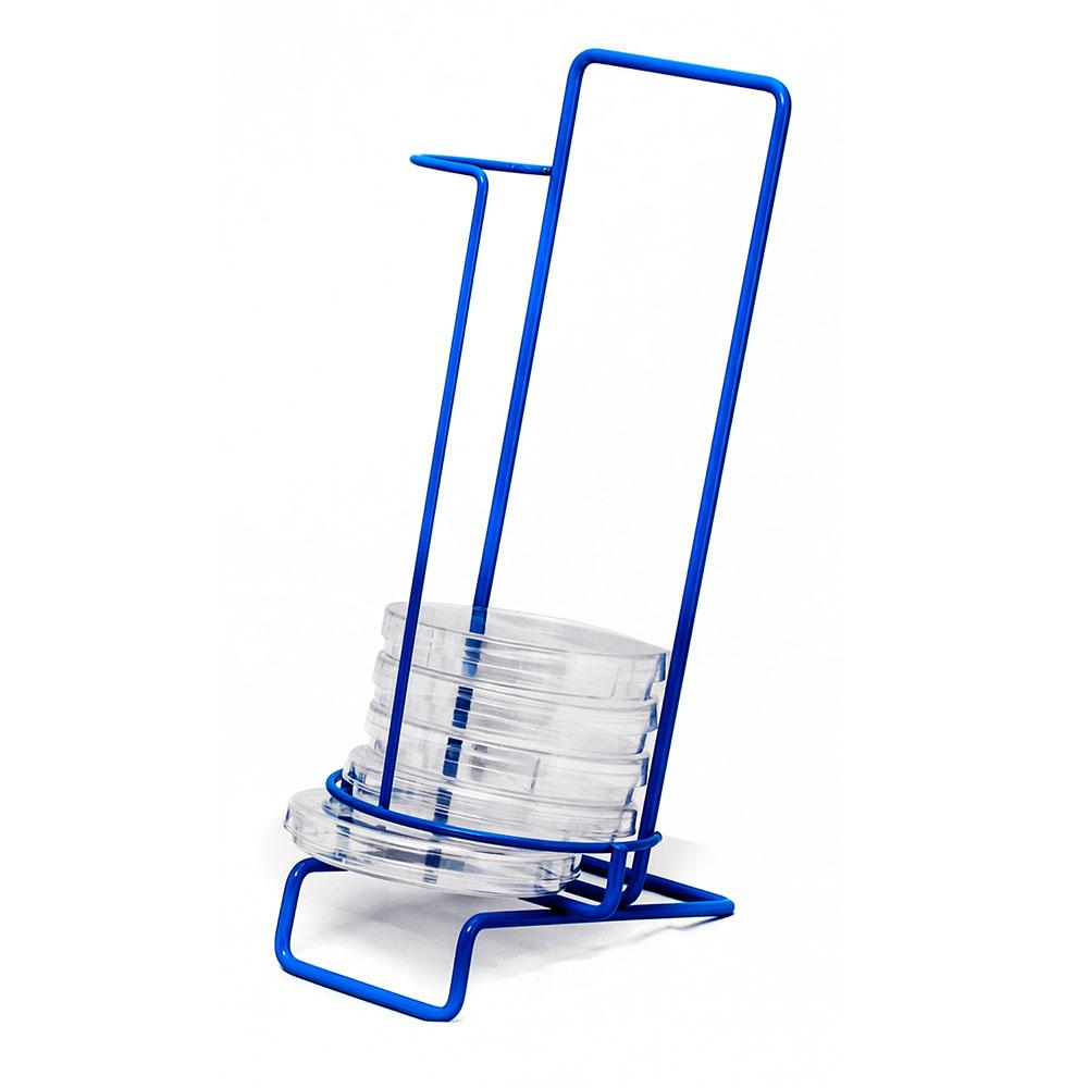 11 Places Poxy Grid 100mm Petri Dish Dispensing 1 Column Rack