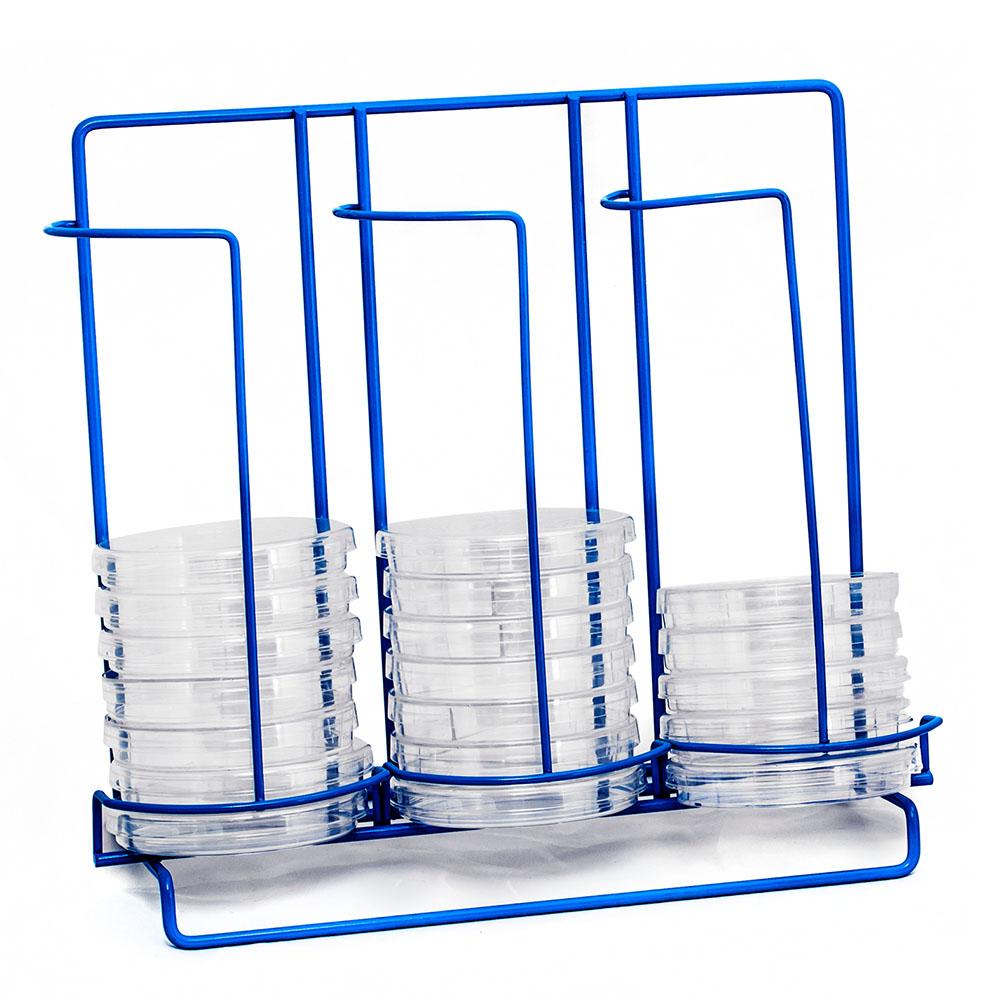 33 Places Poxy Grid 100mm Petri Dish Dispensing 3 Column Rack