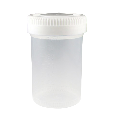 90mL Tite-Rite™ Non-Sterile Container with 48mm Cap - Case of 400