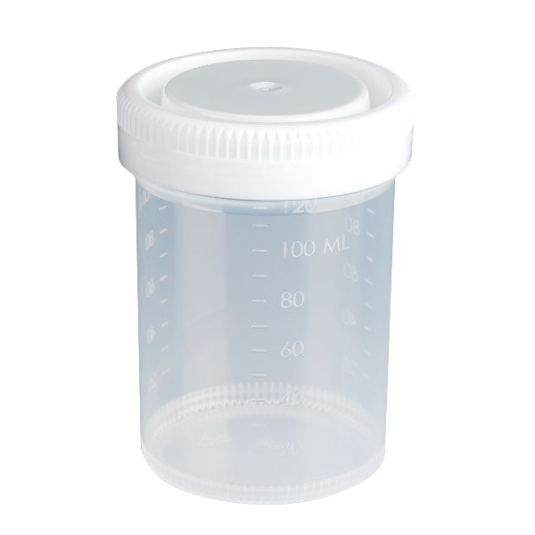 120mL 4 oz.) Tite-Rite™ Sterile Container with 53mm Cap - Case of 300