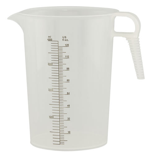128 oz. Accu-Pour™ Polypropylene Measuring Pitcher