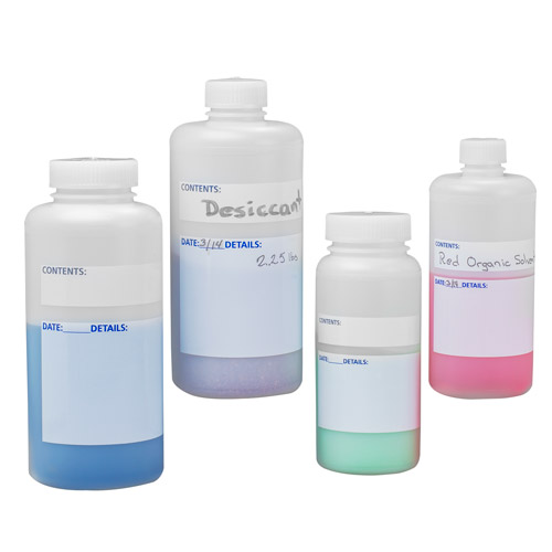 Write-On HDPE Bottles with Caps