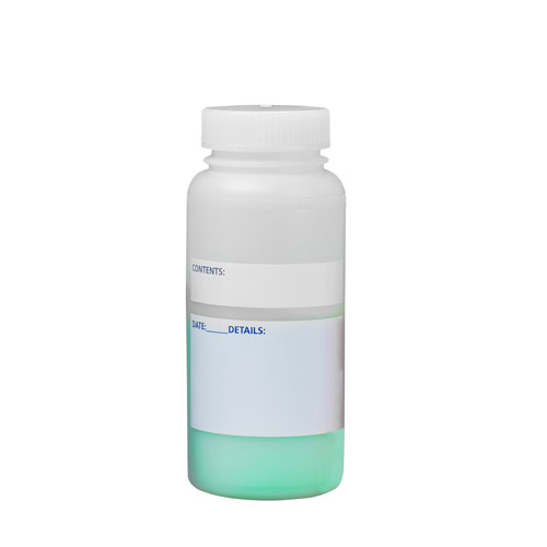 500mL Wide Mouth Write-On HDPE Bottles with Caps - Case of 12