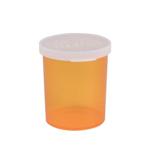 """30 Dram Amber Polypropylene Snap Cap Vials - 1-15/16"""" Dia. x 2-27/32"""" H"""