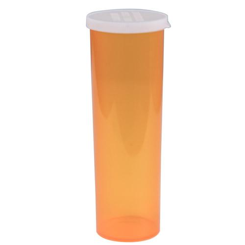 60 Dram Amber Polypropylene Snap Cap Vials - Case of 140