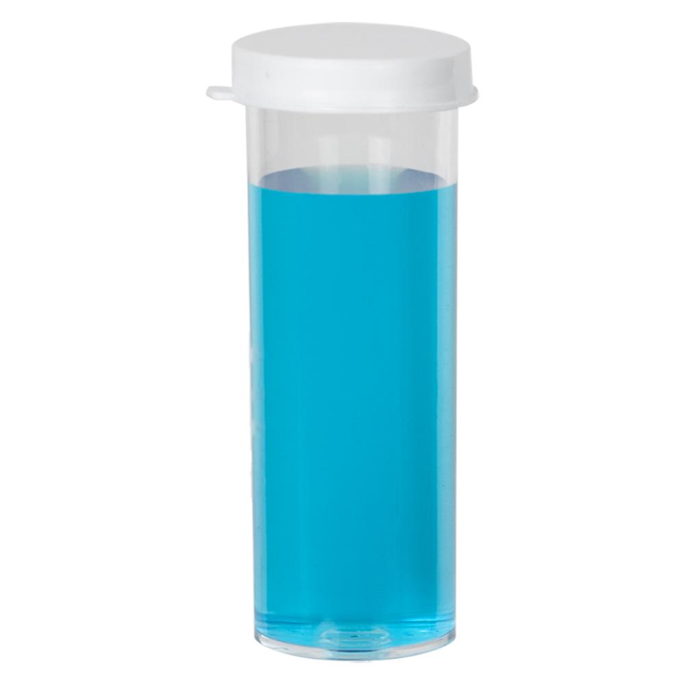 6c2068c313b2 10 Dram Premium Polystyrene Clear Vial with Snap Cap | U.S. Plastic ...