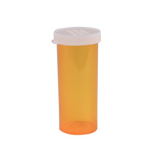 16 Dram Amber Polypropylene Snap Cap Vials - Case of 300