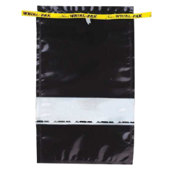 "7.5"" W x 12"" L x 55 oz. Black Sample Bag"