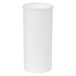 .3 oz. White Polypropylene Straight-sdied Vial with 24mm Neck