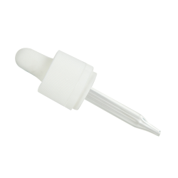 18/415 CRC/TE White Glass Dropper Assembly with 65mm Tube