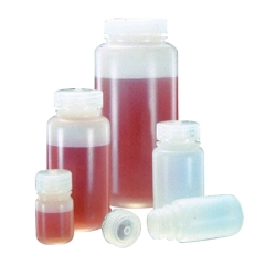 Thermo Scientific™ Nalgene™ Wide Mouth Economy HDPE Bottles with Caps
