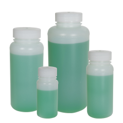 Precisionware™ HDPE Wide Mouth Bottles with Caps