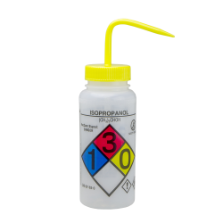 500mL Isopropanol GHS Labeled Right-to-Know, Vented Wash Bottle