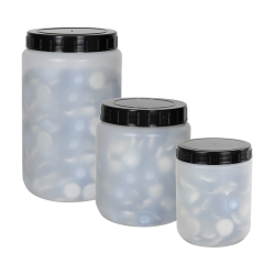 Round HDPE Jars with Screw Caps