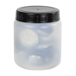 70mL Kartell Round HDPE Jars with Screw Caps - Case of 10
