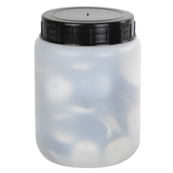 250mL Kartell Round HDPE Jars with Screw Caps - Case of 10