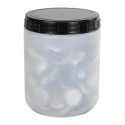 500mL Kartell Round HDPE Jars with Screw Caps