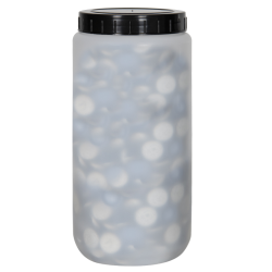 2000mL Kartell Round HDPE Jars with Screw Caps - Case of 10