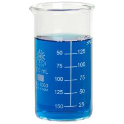 200mL Tall Form Borosilicate Glass Berzelius Beaker with Spout