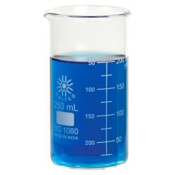 250mL Tall Form Borosilicate Glass Berzelius Beaker with Spout