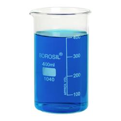 400mL Tall Form Borosilicate Glass Berzelius Beaker with Spout