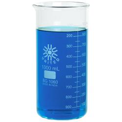 1000mL Tall Form Borosilicate Glass Berzelius Beaker with Spout