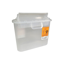 5.4 Quart Clear Stackable Sharps Container