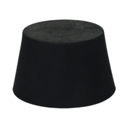 Size 0 Solid Rubber Stopper