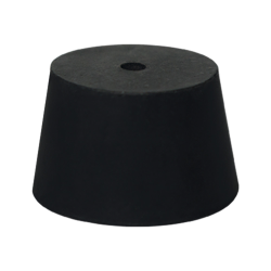 Size 0 Rubber Stopper with 1 Hole