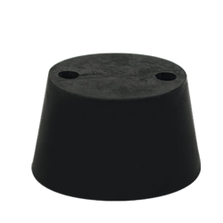 Size 4 Rubber Stopper with 2 Holes