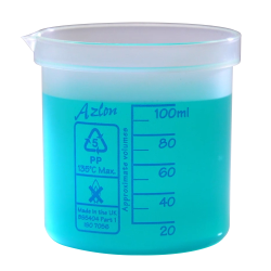 100mL Azlon® Polypropylene Square Ratio Beakers