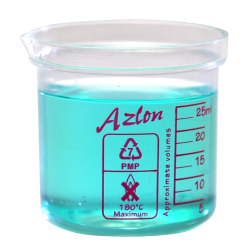 25mL Azlon® PMP Square Ratio Beakers