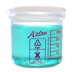 25mL Azlon® PMP Square Ratio Beakers