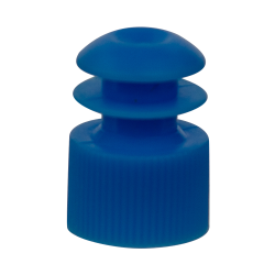 16mm Blue Flanged Cap